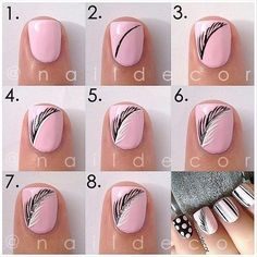 Feather nail tutorial