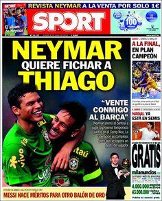 Los Titulares y Portadas de Noticias Destacadas Españolas del 6 de Junio de 2013 del Diario Deportivo Sport ¿Que le parecio esta Portada de este Diario Español?