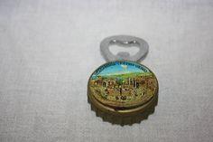 Vintage Fridge Magnet Bottle Opener 3D Sicily Souvenir Taormina Teatro Greco Bottle Cap Shape