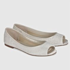 Pink Bridal Shoes by Paradox London. Yes. An adorable flat bridal shoe covered in lace with open toe.  Dyeable too. Walk down the aisle in comfort & style.