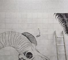 """39 curtidas, 1 comentários - Studio C102 (@studioc102) no Instagram: """"Mural by @abioverlandjersey underway..."""""""
