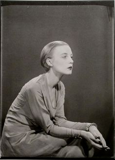 Photo by Man Ray (1890-1976), 1925, Portrait of artist Karin Van Leyden (1906-1977), Paris.
