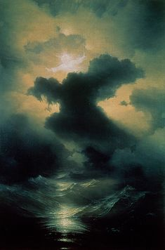 Chaos The Creation by Ivan Konstantinovich Aivazovsky Oil on canvas