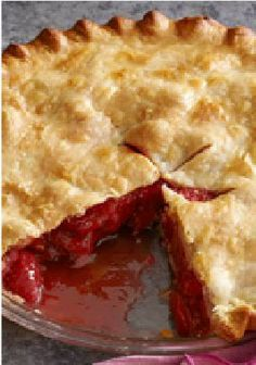 Fresh Strawberry-Rhubarb Pie – Rhubarb ready for the picking? Put it to delicious use in this Fresh Strawberry-Rhubarb Pie.