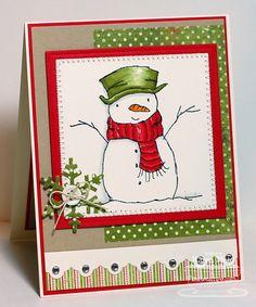 Paper Playhouse: Snowman card...love this! :)