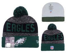 Men's / Women's Philadelphia Eagles New Era 2016 NFL Sideline Sport Knit Pom Pom…