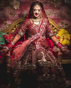 Best Wedding Photographers from India - Dulhaniyaa Indian Bride Poses, Indian Bridal Photos, Indian Bridal Outfits, Indian Bridal Fashion, Indian Dresses, Wedding Lehenga Designs, Designer Sarees Wedding, Wedding Lehnga, Indian Wedding Couple