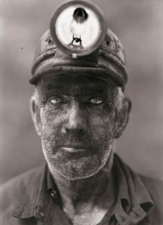 Haunting eyes of a coal miner.