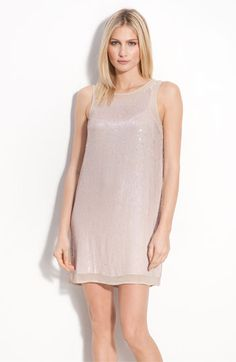 I love the pale pink sequins and the simple-ness of this.