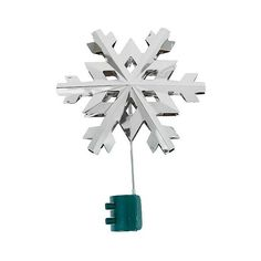 Lit Metal Snowflake Tree Topper ($14) ❤ liked on Polyvore featuring home, home decor, holiday decorations, shiney silver, lighted tree topper, xmas tree toppers, target tree topper, snowflake christmas tree topper and modern home decor