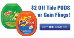 CVS: Tide PODS & Gain Flings Only $1.94 with Printable Coupon!
