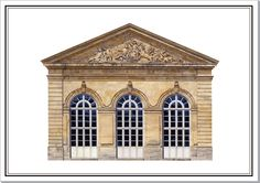 Orangerie at Coubert | Architectural Watercolors