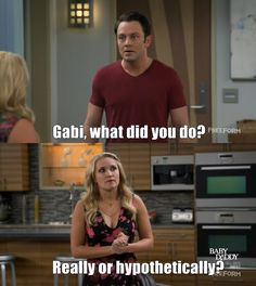 """Young & Josh's Dad"" - Josh and Gabi Hungry Quotes, Hungry Funny, Comedy Tv Shows, Young & Hungry, Unbreakable Kimmy Schmidt, Emily Osment, Last Man Standing, All I Ever Wanted, Tv Show Quotes"
