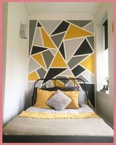 133 best DIY bedroom wall decor – home decor – … Diy Wall Decor For Bedroom, Bedroom Wall Designs, Diy Bedroom, Bedroom Ideas, Bedroom Pictures, Modern Bedroom, Home Decor, Geometric Wall Paint, Home Design