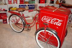 Amazing 3 Wheelers - #searchlocated - CocaCola Bike Cooler 1940s