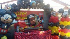 Mickey Mouse balloons theme