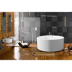 Treat yourself and soak in peaceful tranquility with Aquatica?s stylish and ergonomic PureScape 308 freestanding bathtub.  Aquatica challenges everything we thought we knew about a bathtub with the world-class modern design and ergonomic features tha