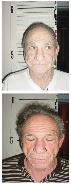 Mafia rat Henry Hill, was photographed by Nebraska cops in February 2005 after security officers found glass tubes with cocaine and methamphetamine in his luggage at a North Platte airport. Italian Gangster, Real Gangster, Gangster Films, Mafia Gangster, North Platte, Al Capone, Martin Scorsese, Serial Killers, True Crime