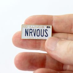 Image of Nrvous License Plate Pin
