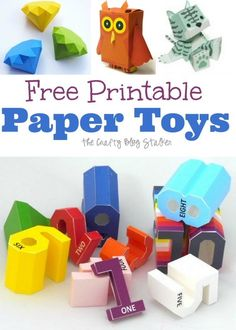 Easy DIY craft tutorial ideas for free printable paper toys. Paper toys are fun to make and fun to play with. Great for kids and adults.