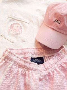 Pink monogram.