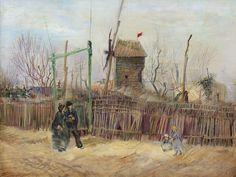 Vincent van Gogh, Scène de rue à Montmartre (Impasse des deux frères et le Moulin à Poivre), (1887). © Sotheby's / ArtDigital Studio