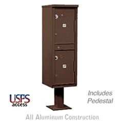 Outdoor Parcel Locker Bronze 2 Compartments