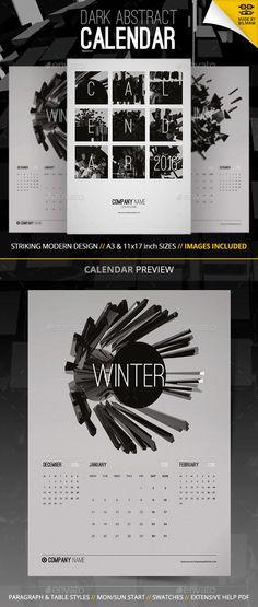 Abstract modern monthly calendar template 2016