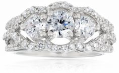 http://blingblingbling1.blogspot.co.uk/p/blog-page.html . Sterling Silver Round Cubic Zirconia Ring, Size 7:  #charms -  pins