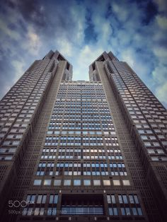 Towers - Tokyo Metropolitan Government Building from below by af8