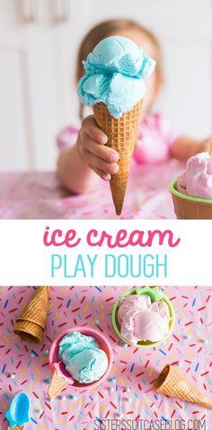 2 Ingredient Edible Ice Cream play dough!