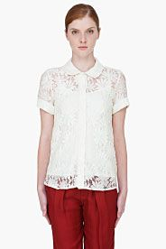 Ivory Lily Lace Combo Blouse