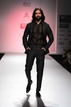 Flirtatious melodies and menswear started the show for Pratima Pandey - Prama
