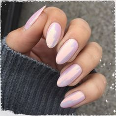 Almond Nails are goals baby! Almost all almond nails are acrylic nails or fake n. - Almond Nails are goals baby! Almost all almond nails are acrylic nails or fake n… - Almond Nails Pink, Pale Pink Nails, Almond Acrylic Nails, Pink Chrome Nails, Almond Shape Nails, Square Acrylic Nails, Acrylic Nail Designs, Nail Lacquer, Nail Polish