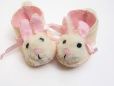Cream and Pink Mrs Bunny Babies Shoes Baby Girl