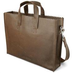 Leuke multifunctionele damestas, MYOMY PAPER BAG Businessbag Original. En natuurlijk fair-trade. #schoudertas #damestas #myomy #laptoptas #tas