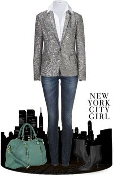 """New York City Girl"" by archimedes16 on Polyvore"