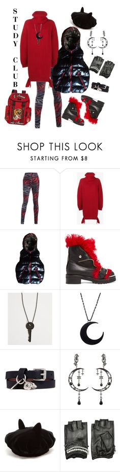 """""""Study Club"""" by mb-magic-styles ❤ liked on Polyvore featuring Balenciaga, Duvetica, Alexander McQueen, The Giving Keys, Eye Candy, Maison Michel, Karl Lagerfeld and Gucci"""