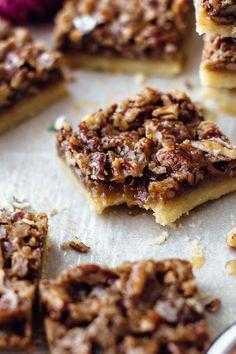 Pecan Desserts, Fall Desserts, Cookie Desserts, Just Desserts, Cookie Recipes, Dessert Recipes, Bar Recipes, Pecan Bars, Shortbread Crust