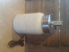 Mason Jar Lamp Base Gallon Sized Mason Jar Lamp Large Table Lamp Mason Jar Lighting Mason Home Decor (60.00 USD) by Rustic4you