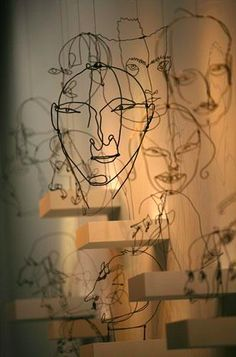 43 Wire Art Sculptures Ready to Emphasize Your Space - Easy Diy Alexander Calder wire sculpture - Alexander Calder, Sculptures Sur Fil, Art Sculpture, Wire Sculptures, Famous Sculptures, Sculpture Ideas, Abstract Sculpture, Bronze Sculpture, Wire Drawing