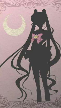 Minimalist Sailor Moon Phone Wallpaper by astrogenes