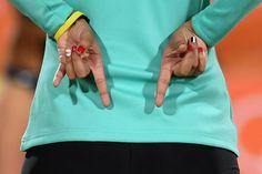 Pin for Later: Die Olympioniken haben die Nägel schön Doaa Elghobashy, Beach Volleyball, Ägypten