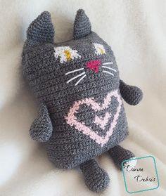 - Sweetheart Cat Ami free crochet pattern by Divine Debris Crochet Toys, Free Crochet, Arm Knitting, Pet Toys, Cat Lovers, Dinosaur Stuffed Animal, Projects To Try, Crochet Patterns, Valentines