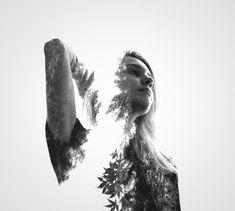 Retratos, naturaleza y urbanismo en doble exposición por Erkin Demir - PixelismoPixelismo