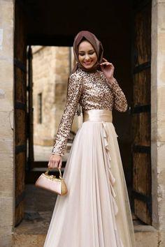 Bayramlık tesettür elbise modelleri