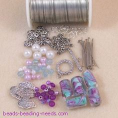 Learn How to make a Beaded Bracelet - Wrapped loops and dangles.  #Beading #Jewelry #Tutorials