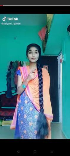 Indian Long Hair Braid, Braids For Long Hair, Girl Hairstyles, Braided Hairstyles, Beautiful Braids, Your Hair, Hair Beauty, Beautiful Women, Sari