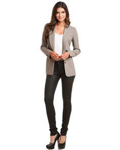 Grey Blazer, Skinny Jeans, and Pumps