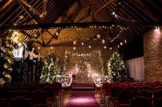 Fathom barn before a wedding ceremony at christmas